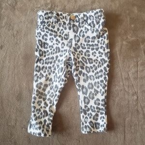 Girls Sparkly Leopard Print Pants